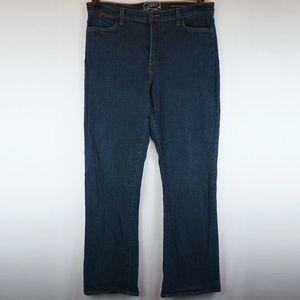 NYDJ Jeans Dark Wash Studded Pockets Boot Cut